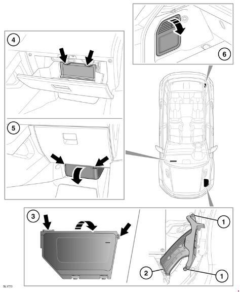 Предохранители автомобиля Range Rover Evoque (L538)
