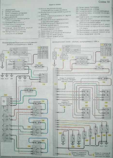 Цветные электросхемы Nissan