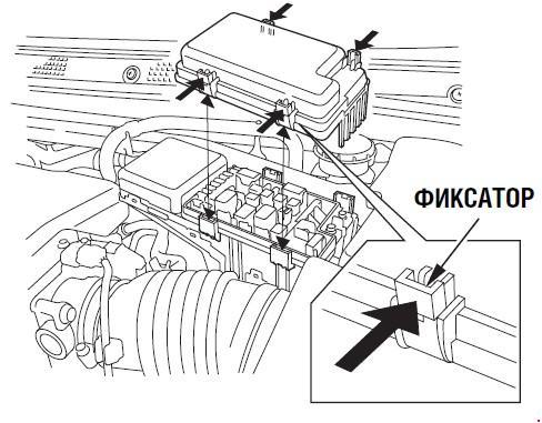 Назначение и расположение предохранителей Honda Legend с 2004 г.