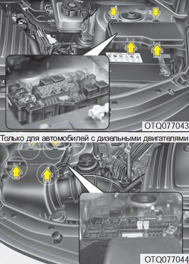 Назначение предохранителей Hyundai H-1 второго поколения