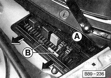 Схема предохранителей и реле Audi 80 B3 (1986-1991)